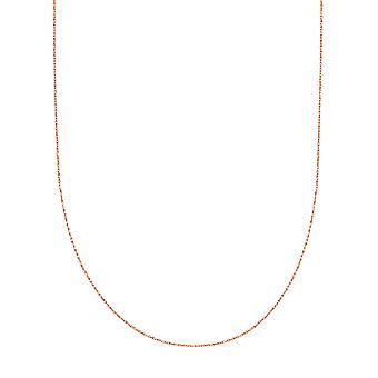 14k Rose Gold Rope Chain Necklace, 0.6mm