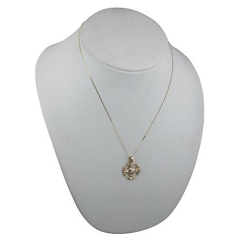 9ct Gold 21mm Fancy Cross with a curb Chain 20 inches