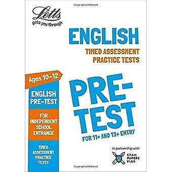 Letts gemensamma ingång framgång - Letts engelska pre-test övningsprov: Tidsinställda bedömning övningsprov (Letts gemensamma ingång framgång)