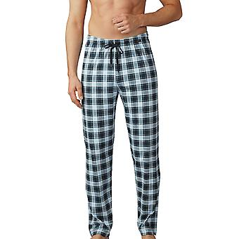 Mey Men 18960-188 Men's Lounge Ciel Grey Plaid Pyjama Pant