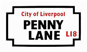 Penny Lane large sized enamelled steel sign   (gg)
