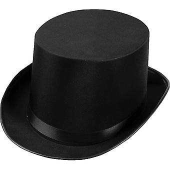 Top Hat Satin Black For Adults
