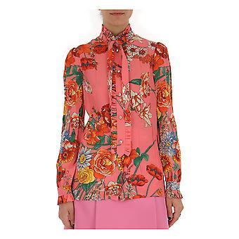 Camisa de seda Gucci Multicolor