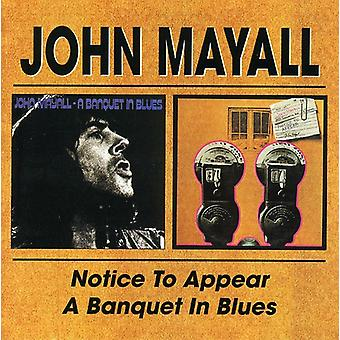 John Mayall - Notice to Appear/Banquet in Blues [CD] USA import