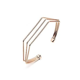 Intrigue Womens/Ladies Cable Bangle Cuff