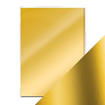 Craft Perfect von Tonic Studios A4 Satin Effect Mirror Card Gold Pearl | Pack von 5