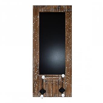 Rebecca mobiele sleutelhanger Blackboard met 4 knoppen hout op te hangen Vintage keuken