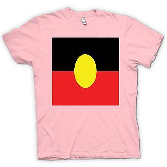 女装 t 恤-澳大利亚原住民国旗