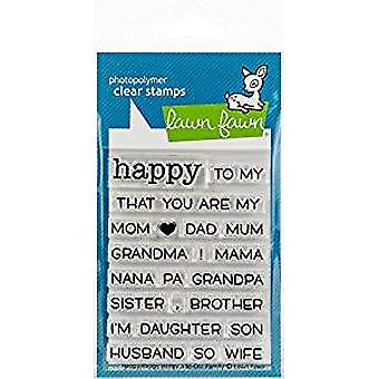 Lawn Fawn Happy Happy Happy Add-On: Family Clear Stamps (LF1585)