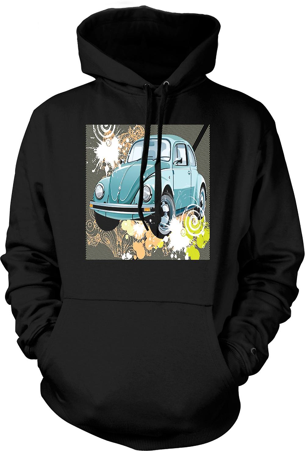 Mens hettegenser - VW Beetle - Pop Art