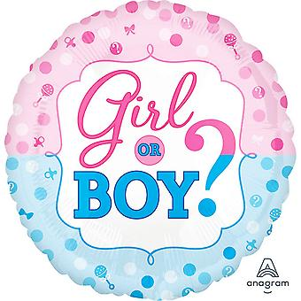 Anagram 18in Gender Reveal Foil Balloon