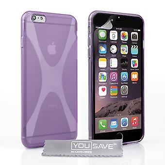 YouSave Accessories iPhone 6 Plus and 6s Plus Silicone Gel XLine Case Purple