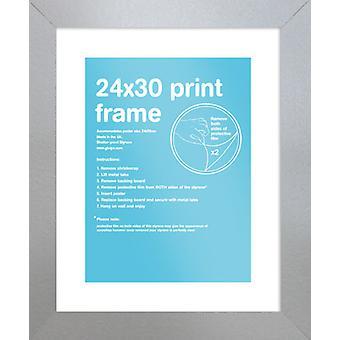 Eton zilver Frame 24 x 30cm Poster / Frame afdrukken