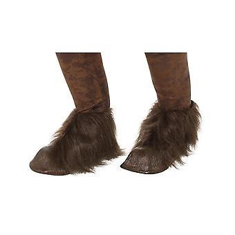 Beast/Krampus Demon Hoof Shoe Covers,Halloween Fancy Dress Accessories