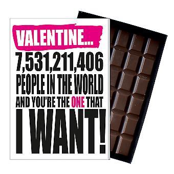Valentine? s dag present till pojkvän flickvän rolig Silly present choklad kort IYF143
