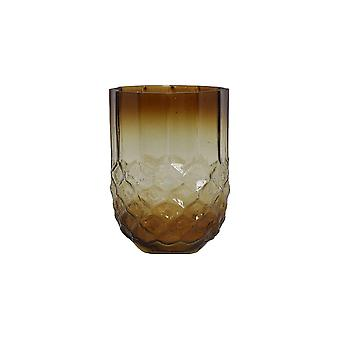 Light & Living Tealight Ø10x15,5 Cm FORGES Glass Yellow Ocher