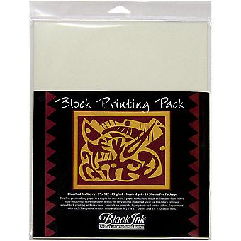 Block Printing Paper Pack By Black Ink Papers-White 9