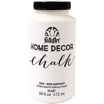 Folkart Home Decor Chalk Finish Paint 16oz-White Adirondack