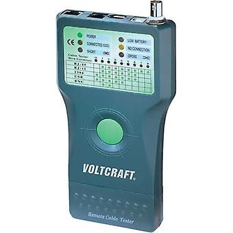VOLTCRAFT CT-5 Cable tester Suitable for RJ-45, BNC, RJ-11, IEE 1394, USB