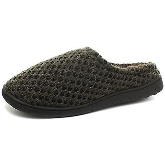 Dunlop Abelard Knitted Mens Mule Slippers  AND COLOURS