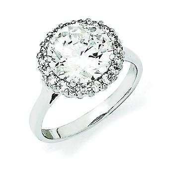 Sterling Silver CZ Ring - Ring Size: 6 to 8