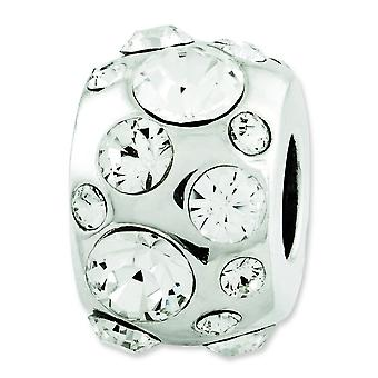 Sterling Silver Reflections April Swarovski Element Bead Charm