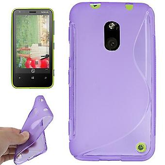Mobile case TPU case for mobile Nokia Lumia 620 purple