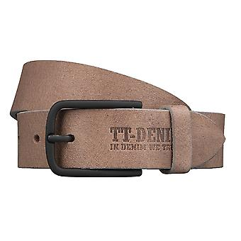 TOM TAILOR belt leather men belt of grey/taupe 3388