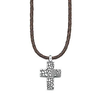 s.Oliver jewel men's leather chain stainless steel cross SO911/1 - 440721