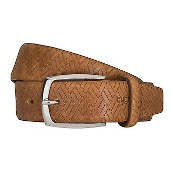 Bugatti belts men's belts leather belt cowhide beige 2466