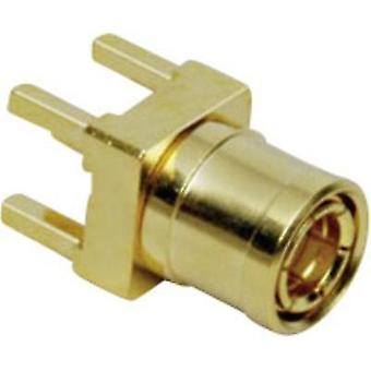 SMB reverse polarity connector Plug, vertical mount 50 Ω BKL Electronic 0411027 1 pc(s)
