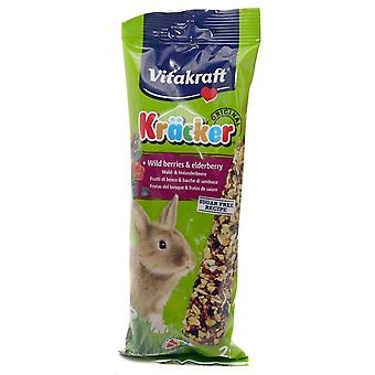 Vitakraft Krõcker« Rabbit Wild Berries & Elderberry Stick 2pk (Pack of 5)