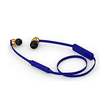 Sudio Vasa Blah Wireless In-Ear Headphones With Charger In Cobalt Blue With Gold Metal