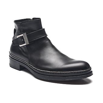 Cesare Paciotti Men Leather Dan Calf Boots Black