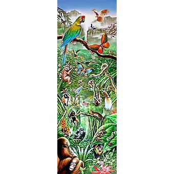 Regnskoven Panorama plakat Print af Adrian Chesterman