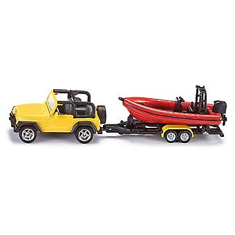Siku Jeep With Boat  (Toys , Vehicles And Tracks , Mini Vehicles , Cars)