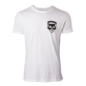 Vogtere af Galaxy Vol 2 raket ekstra T-Shirt XXL størrelse - hvid
