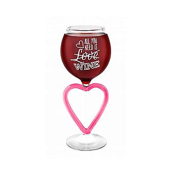 Wine glass wine glass heart all you need is wine giant glass 473 ml