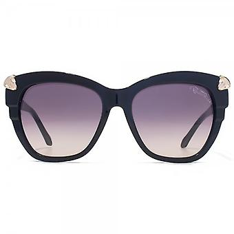 Roberto Cavalli Mesarthim Sunglasses In Shiny Black