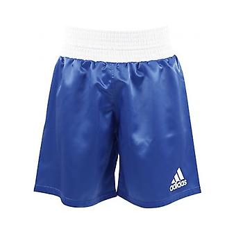 Adidas  Satin Boxing Shorts - Blue-White