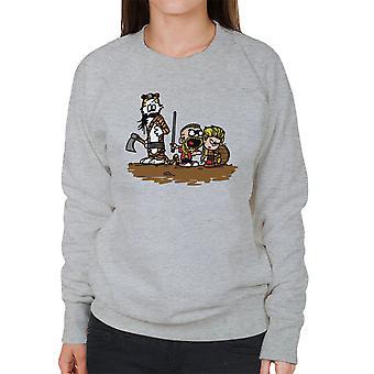Calvin og Hobbes vikingerne Ragnar Lothbrok kvinders Sweatshirt