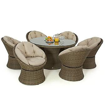 Maze Rattan Winchester 6 Seat Swivel Garden Furniture Set