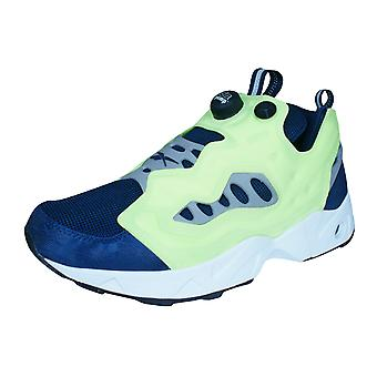 Reebok Instapump Fury Road Unisex Trainers / Shoes - Yellow and Navy