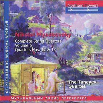 Taneyev kvartetten - Nikolai Miaskovsky - komplet strygekvartetter 5 [CD] USA importerer