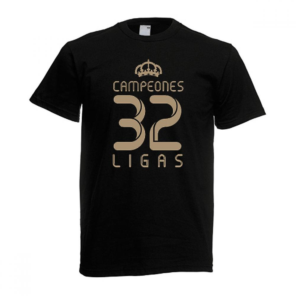 2012 Real Madrid Champions T-Shirt (Zwart)