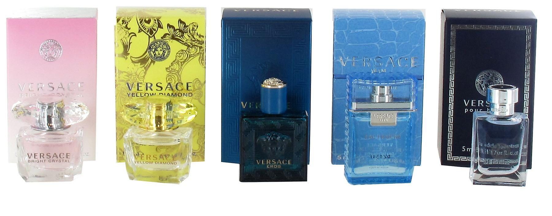 Versace Miniatures Gift Set for Women and Men - Yellow Diamond 5ml Eau de  Toilette e67fc0319a397