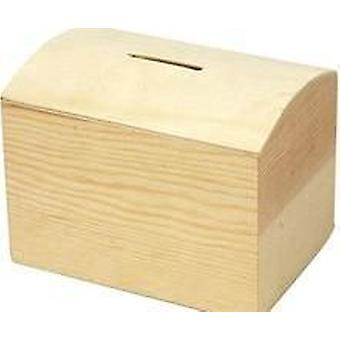 Wood Money Box to Decorate 10x8x7cm | Wooden Boxes for Crafts