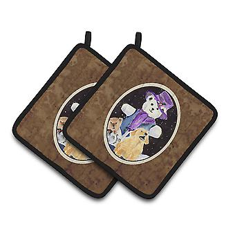 Carolines Treasures  SS8954PTHD Golden Retriever Pair of Pot Holders