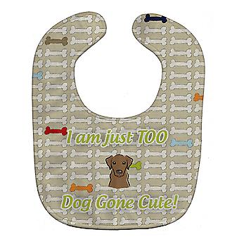 Carolines Treasures  BB5803BIB Too Cute Chocolate Labrador Baby Bib
