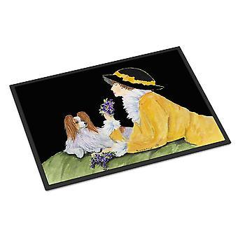 Каролинских сокровища SS8633JMAT Papillon коврик коврик крытом или открытом 24 x 36